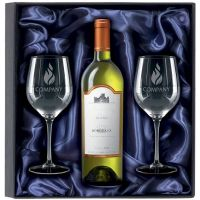 750ml White Wine & 2 Glasses Gift-KA034
